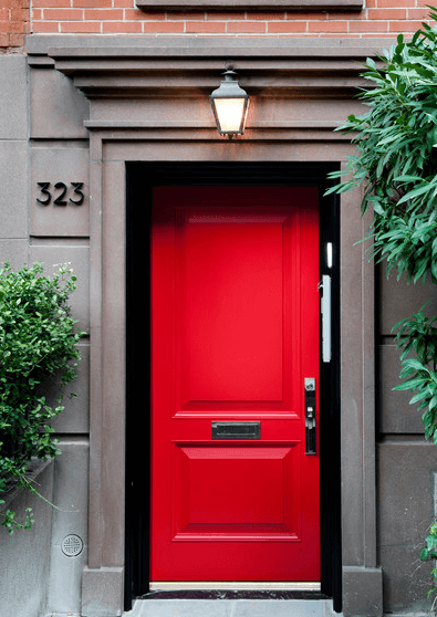 Червена входна врата 11.2020