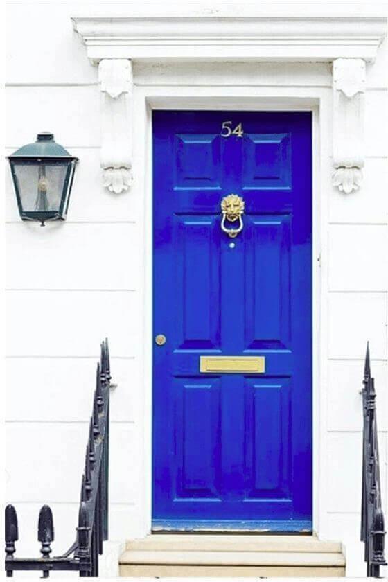 Синя входна врата 11.2020