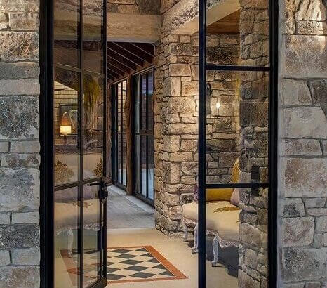 Стъклена модерна Входна врата